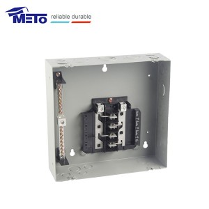 MTL812F China supplier 125a 8 way gray main metal squared panel board load center