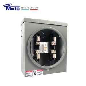 100A Square Meter Socket with Hub